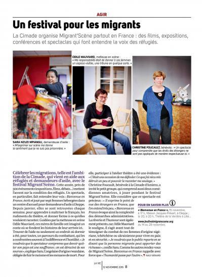 La vie 5 nov2015 agir un festival pour les migrants page008la vie