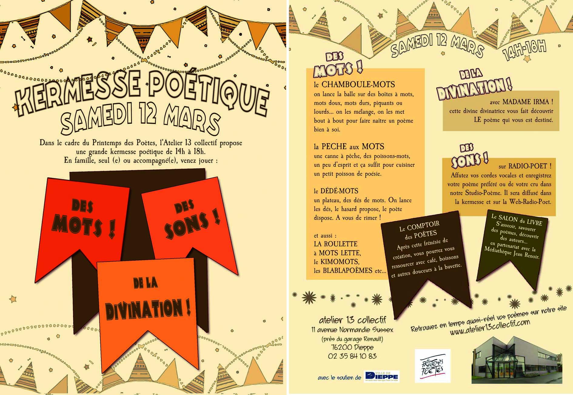 Printemps des poetes flyer